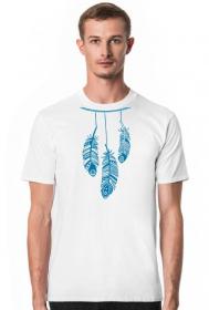 Ubrania indiańskie - Koszulka indianin z piórami - męska