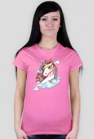 Koszulka z jednorożcem - damska
