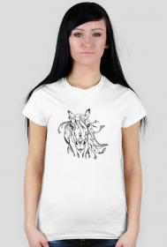 Koszulki z końmi - Głowa konia - damska