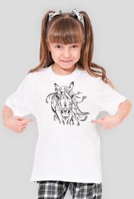 Koszulka z koniem dla dziecka - dziewczęca