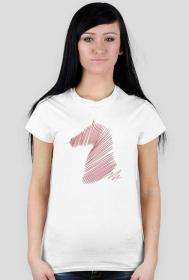 Koszulka z koniem - damska
