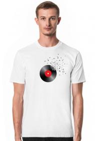 Muzyczne koszulki - Płyta i nuty - męska