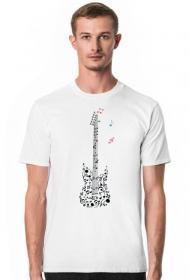 Muzyczna koszulka - Gitara - męska