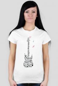 Muzyczna koszulka - Gitara - damska