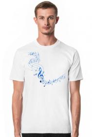 Muzyczne ubrania - Koszulka z nutami - męska