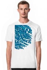 Ciuchy muzyczne - Koszulka muzyczna z nutrami - męska