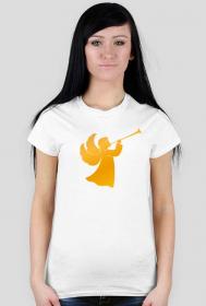 Koszulki z nadrukiem chrześcijańskim - Anioł - damska