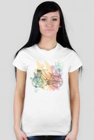 Koszulki z motywem rowerowym - damska
