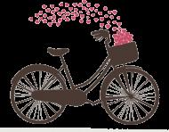 T-shirt z rowerem - męski