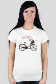 T-shirt z rowerem - damski