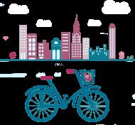 Koszulki z nadrukiem rowerowym - damska
