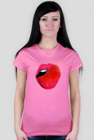 Koszula damska w usta z językiem