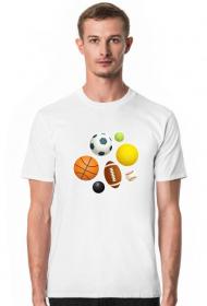 Fajne koszulki na wf - Piłki - męska