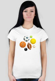 Fajne koszulki na wf - Piłki - damska