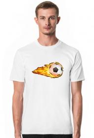 Koszulka biała na wf - Piłka - męska
