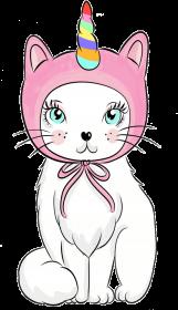 Koszulka damska z jednorożcem-kotem