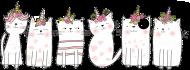 Bluza w jednorożce-koty