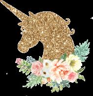 Kubek serduszko - Złoty jednorożec