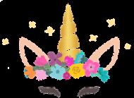 Kubki na prezent - Jednorożec ze złotym rogiem