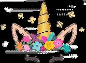 Kubki magiczne z nadrukiem - Jednorozec ze złotym rogiem