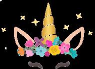 Kubek na walentynki - Jednorożec ze złotym rogiem