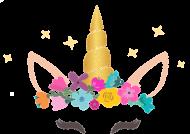 Fartuszki dziecięce - Jednorożec ze złotym rogiem