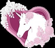 Ciuszki dla niemowląt - Body z jednorożcem w sercu