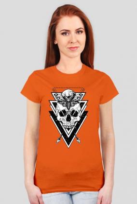 Koszulka z czaszką damska - Czaszka z trójkątami