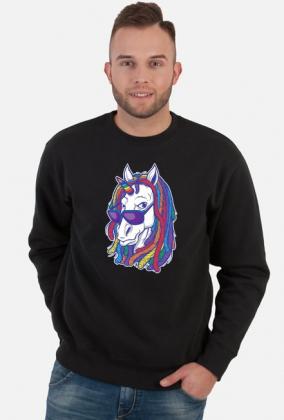 Bluza/sweter z jednorożcem - Jednorożec z dredami