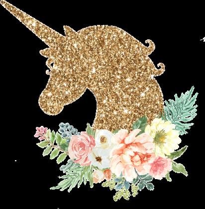 Podkładka pod mysz komputerową - Złoty jednorożec