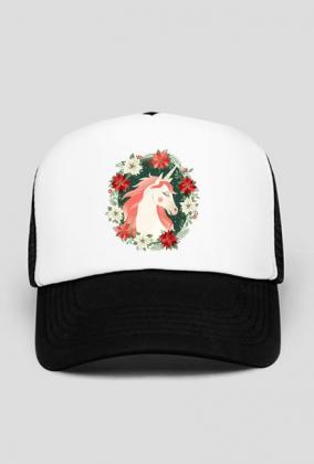 Czapka bejsbolówka - Jednorożec w kwiatach