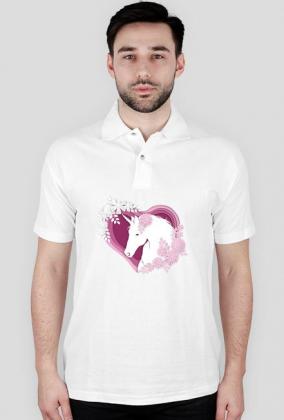 Koszulki z jednorożcem polo - Jednorożec w sercu