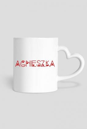 Kubek Agnieszka serce - Prezent dla Agnieszki
