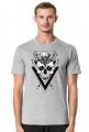 Męskie koszulki z czaszkami - Czaszka z trójkątami