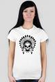 Koszulki z indianami - Indianin czaszka - damska