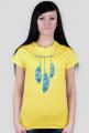 Ubrania indiańskie - Koszulka indianin z piórami - damska