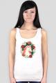 Podkoszulki bawełniane damskie - Jednorożec w kwiatach