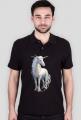 T-shirt polo - Piękny jednorożec
