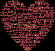 T-shirt damski serce