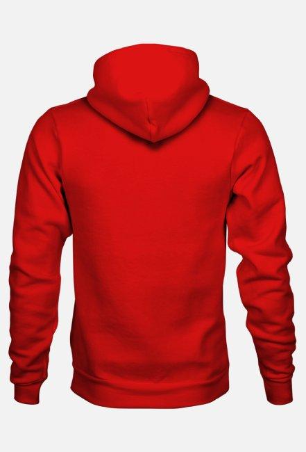 Bluza z kapturem czerwony Nic mnie dziś nie obchodzi