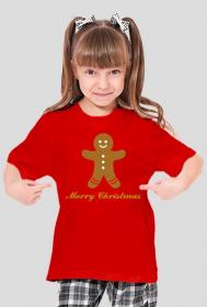 Świąteczna koszulka dla dziewczynki