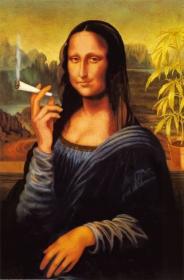 Czapka Mona Lisa Nadruk