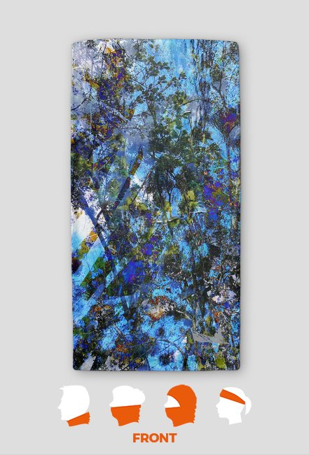 Drzewa z kolorowym tłem
