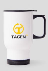 TAGEN.TV - biały kubek termiczny