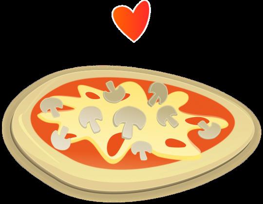 pizza i czerwone serduszko 1