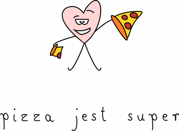 pizza jest super