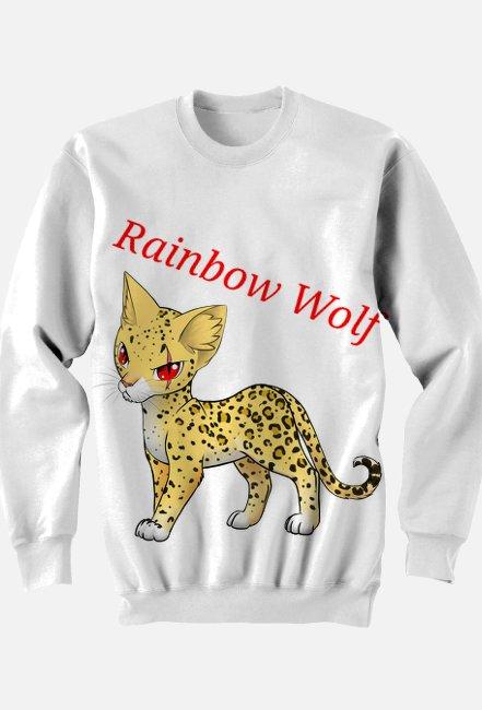 Bluza Rainbow Wolf Kot2