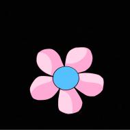 Maseczka Kolorowa Czarna Wiosenny Kwiat