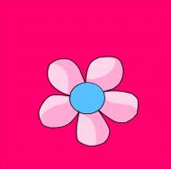 Maseczka Kolorowa Różowa Wiosenny Kwiat