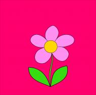 Maseczka kolorowa różowa i kwiat